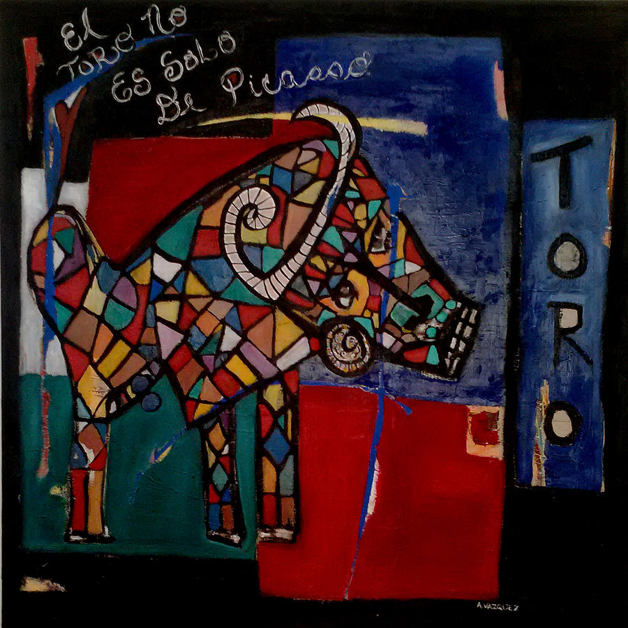 Abstract Painting - Toro by Andrea Vazquez-Davidson
