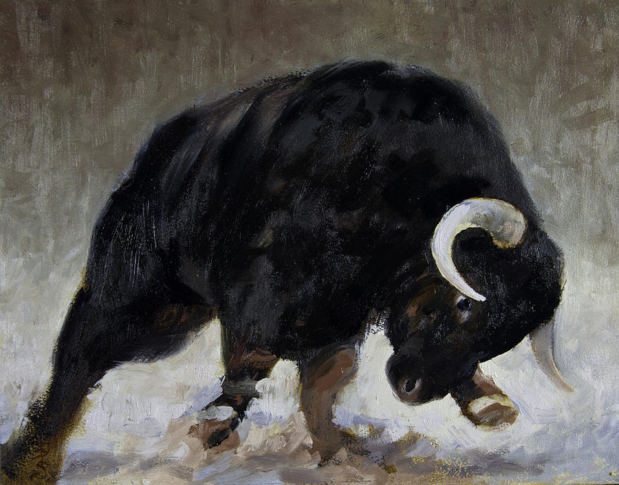 Bull Painting - Toro by Anthony Sell