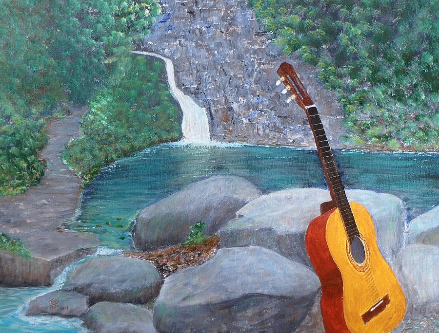 Toro Negro Guitar Painting