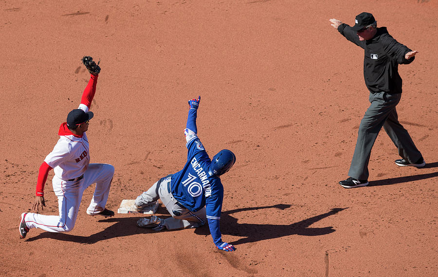 Toronto Blue Jays  V Boston Red Sox Photograph by Michael Ivins/boston Red Sox
