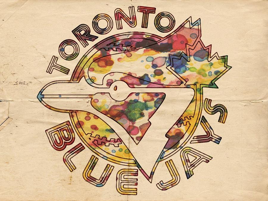 Toronto Blue Jays Painting - Toronto Blue Jays Vintage Art by Florian Rodarte
