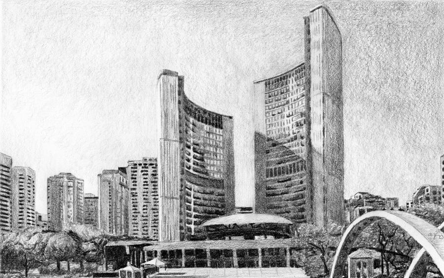 Toronto City Hall I Study by Duane Gordon