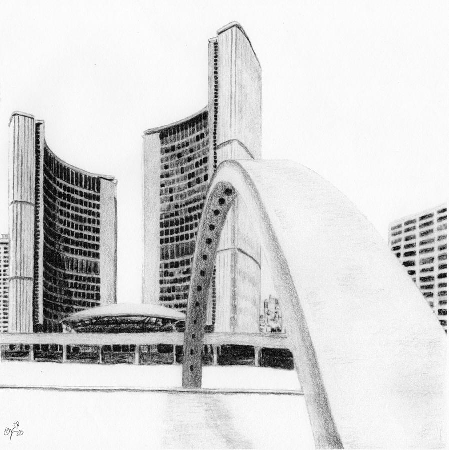 Toronto City Hall II Study by Duane Gordon