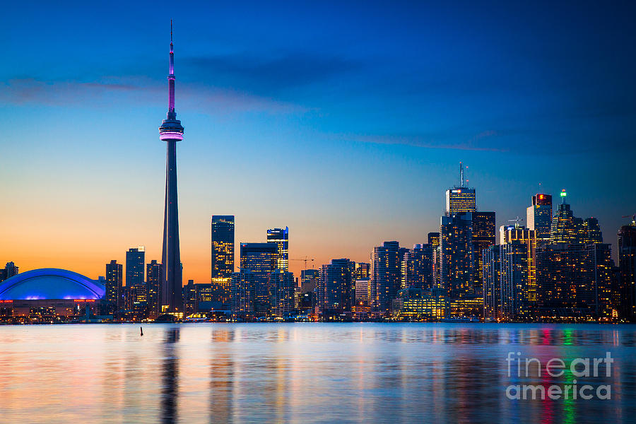 America Photograph - Toronto from Centre Island by Inge Johnsson