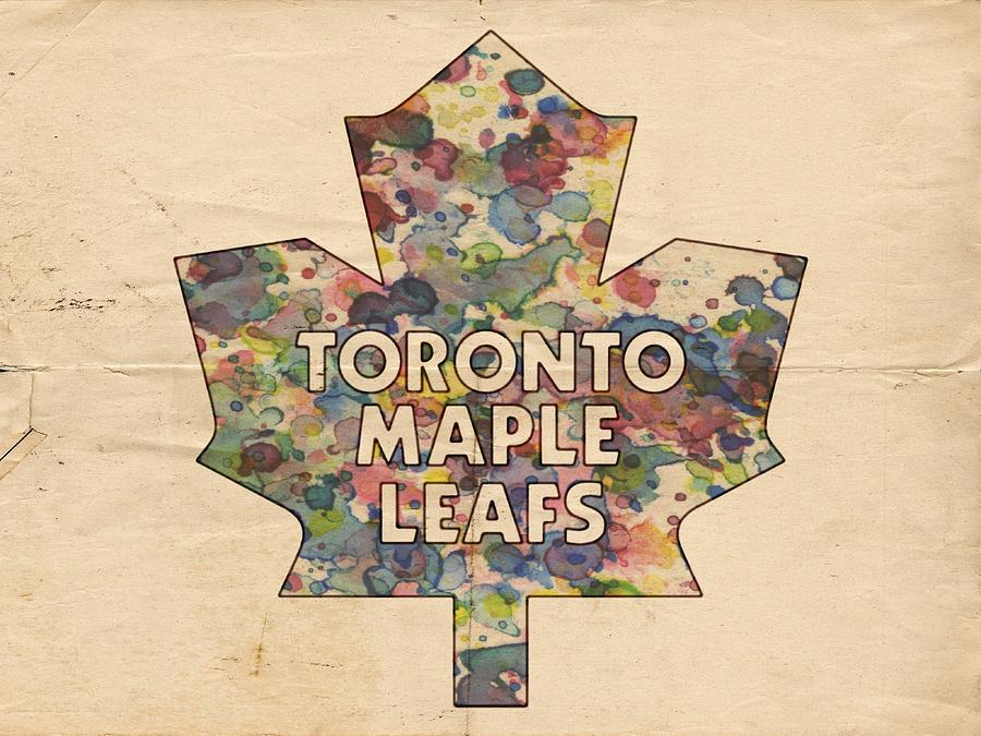 Toronto Maple Leafs Painting - Toronto Maple Leafs Hockey Poster by Florian Rodarte