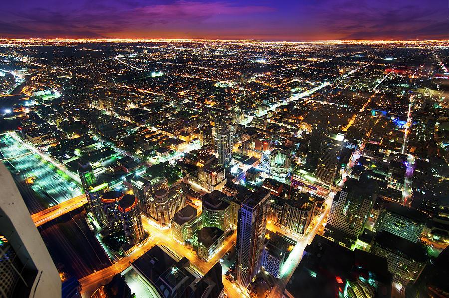 Toronto Skyline, Night Cityscape Photograph by Naibank