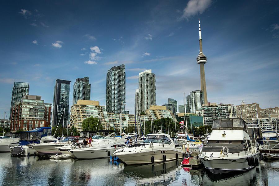 Toronto Yatchs Photograph by Jean Surprenant