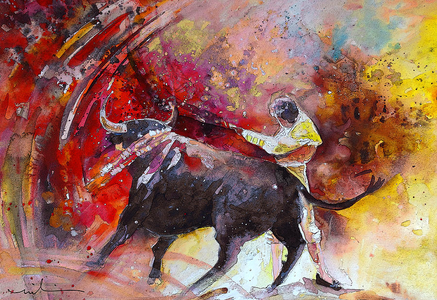 Animals Painting - Toroscape 47 by Miki De Goodaboom