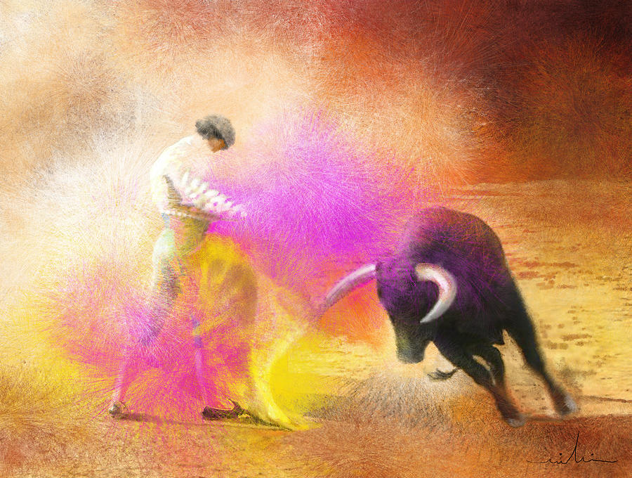 Bullfight Painting - Toroscape 55 by Miki De Goodaboom