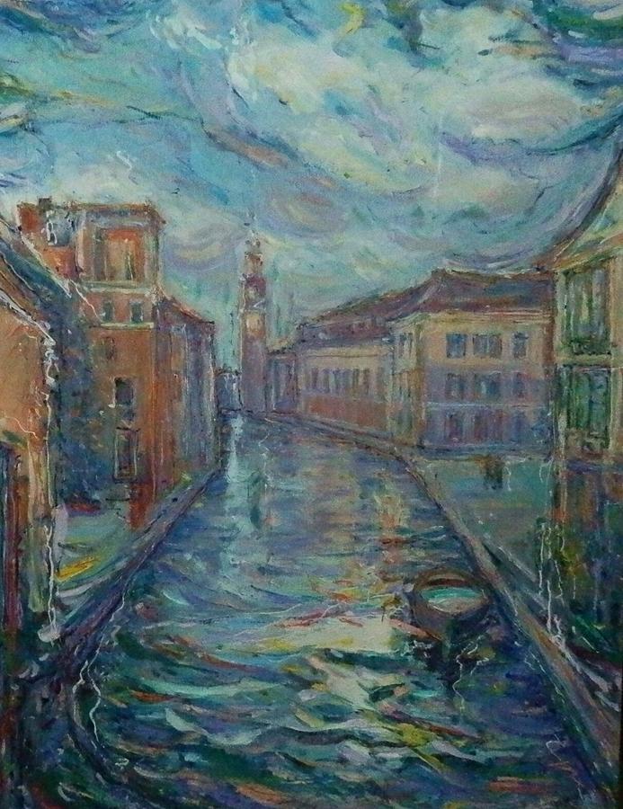 Venice Painting - Torre Dell Arsenale by Zofia  Kijak