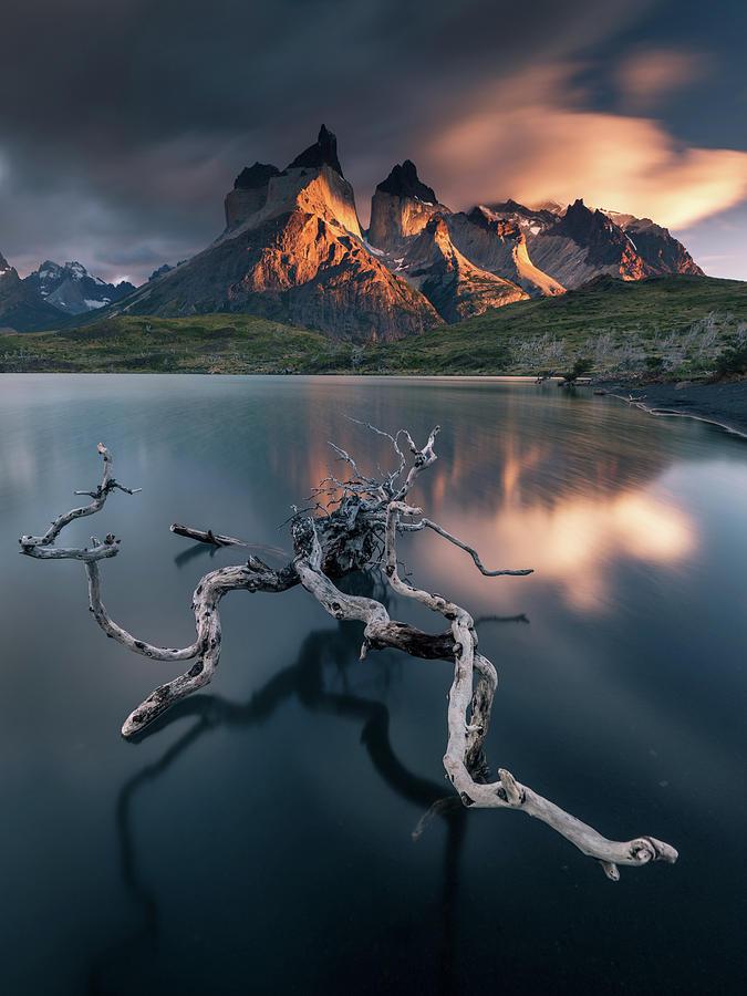 Landscape Photograph - Torres Del Paine by Karol Nienartowicz