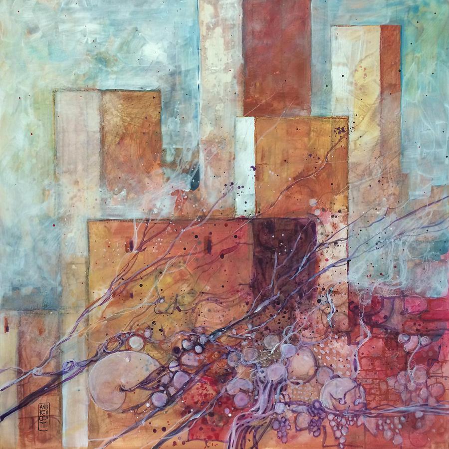 Towers Painting - Torri antiche pietre e uva by Alessandro Andreuccetti