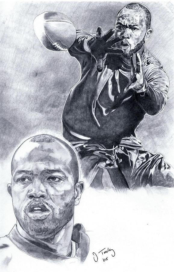 Torry Holt Drawing - Torry Holt by Jonathan Tooley