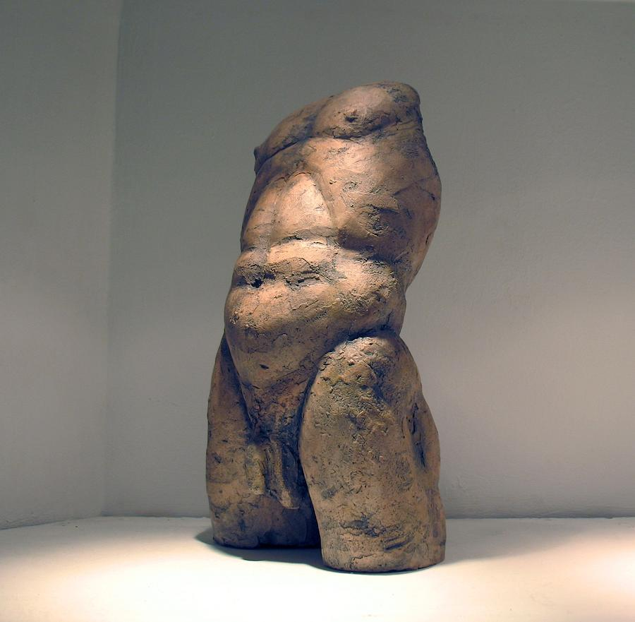 Nude Man Sculpture Sculpture - Torso And Bottom by Flow Fitzgerald