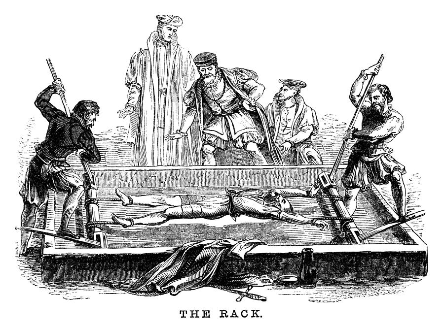 Torture On The Rack (victorian Woodcut) Drawing by Whitemay