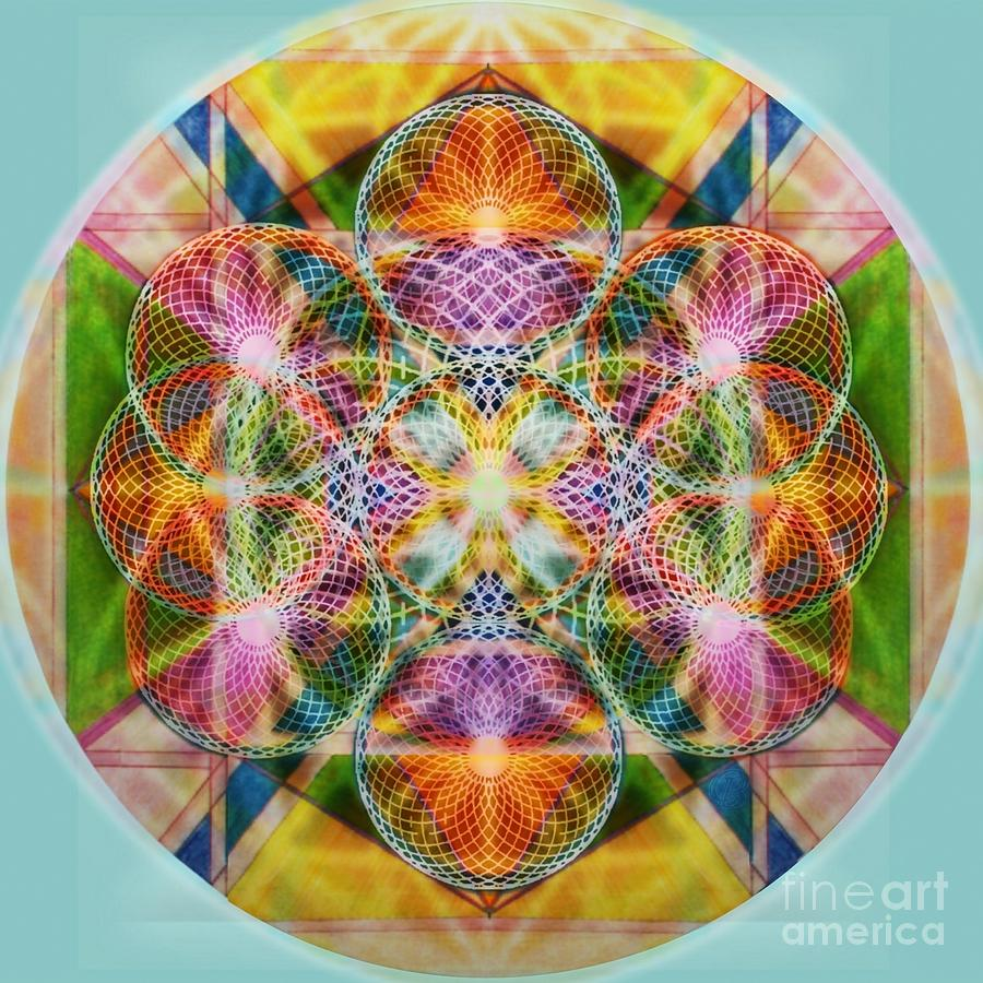 Torus Digital Art - Torusphere Synthesis Bright Beginning Soulin I by Christopher Pringer