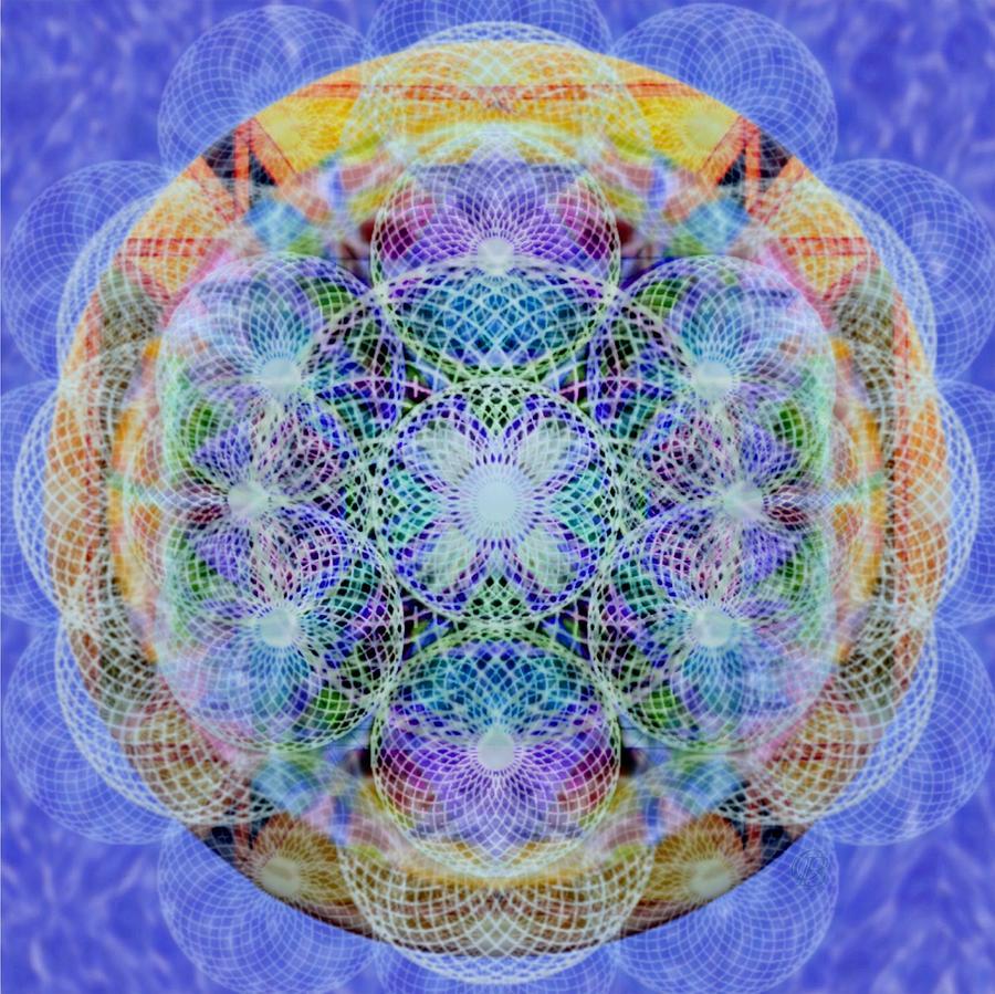 Torus Digital Art - Torusphere Synthesis Interdimensioning Soulin Iv by Christopher Pringer