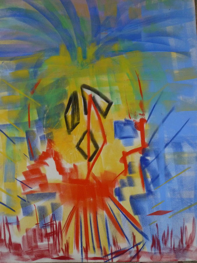Abstract Painting - Totem by Phoenix Simpson