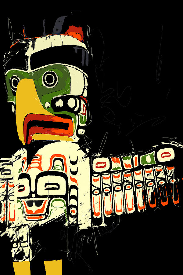 Vancouver Painting - Totem Pole 01 by Catf