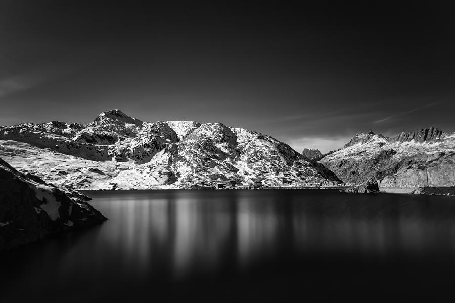 Totesee at Grimsel Pass Switzerland by Charles Lupica
