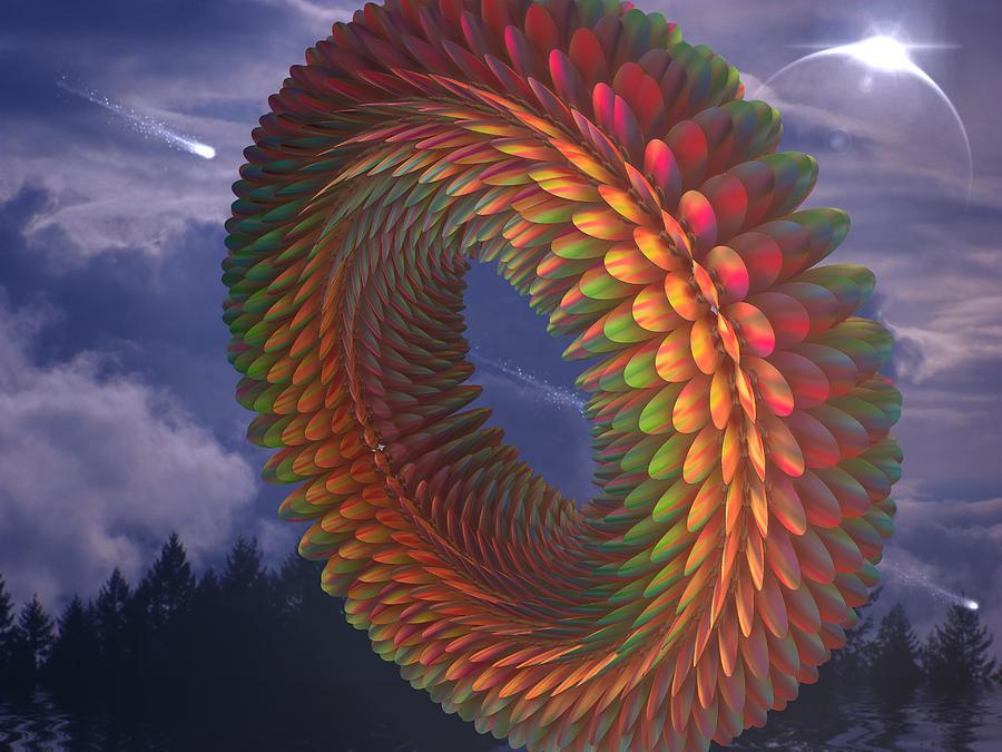 3d Fractals Digital Art - Totorical Blades by Ricky Jarnagin