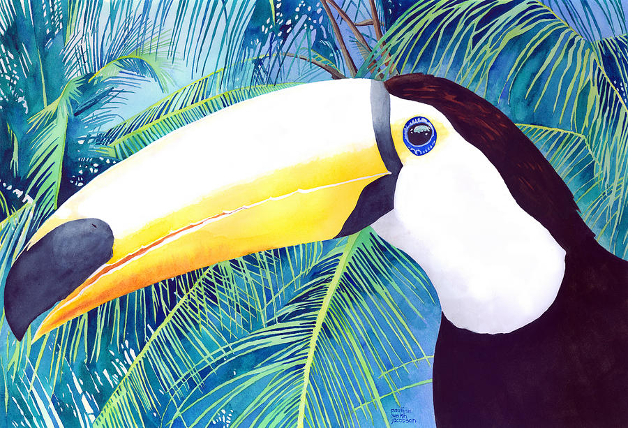 Toucan Painting - Toucan by Pauline Walsh Jacobson