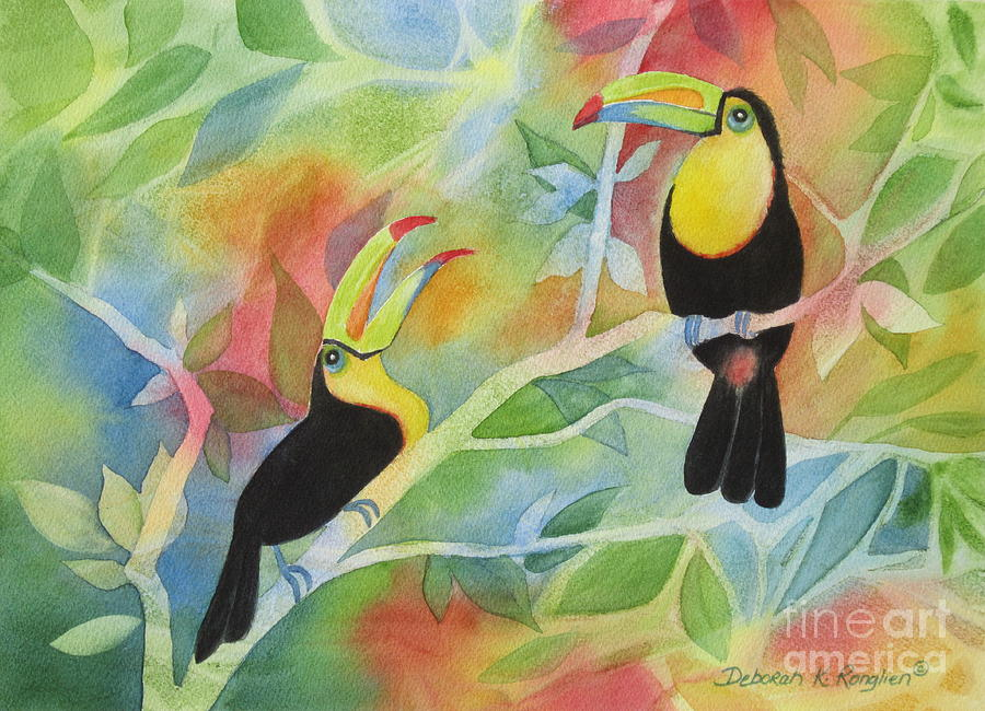 Toucan Painting - Toucan Play At This Game by Deborah Ronglien