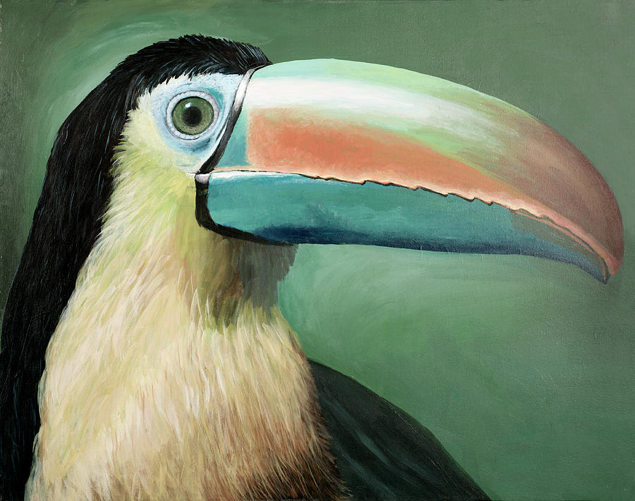 Wildlife Painting - Toucan Portrait by Peter Bonk