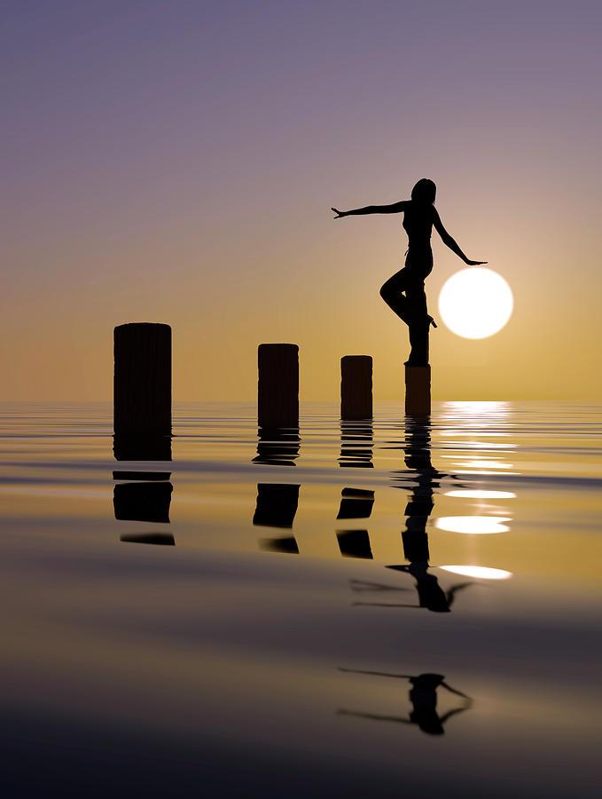 Creative Edit Photograph - Touch My Sun by Mustafa Celikel