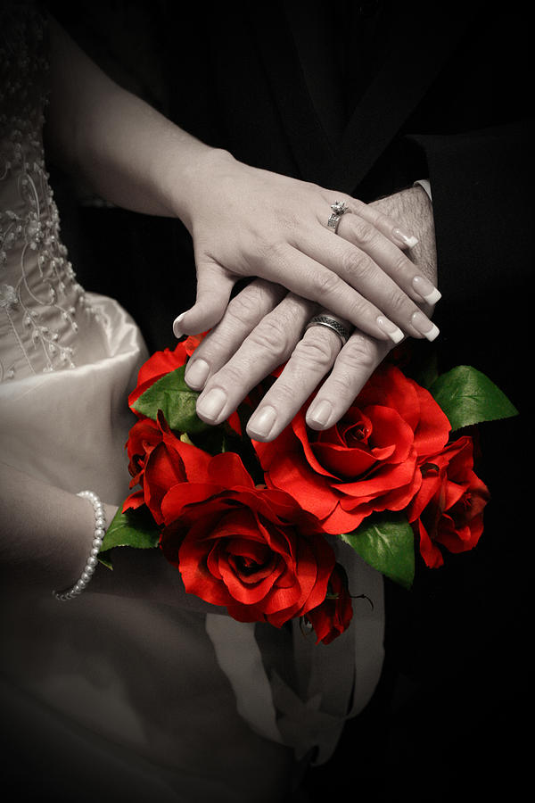 Wedding Photograph - Touch Of Color by Joel Loftus