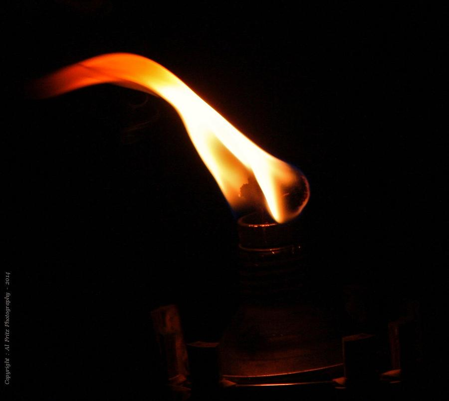 Fire Photograph - Touch Of Light by Al Fritz