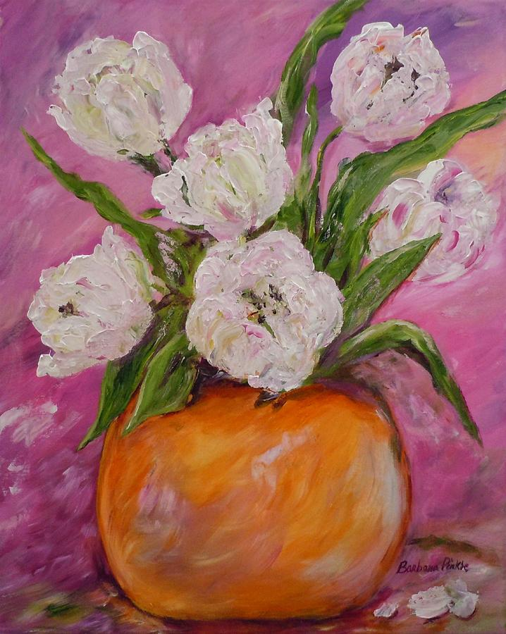 Flowers Painting - Touch Of Spring by Barbara Pirkle
