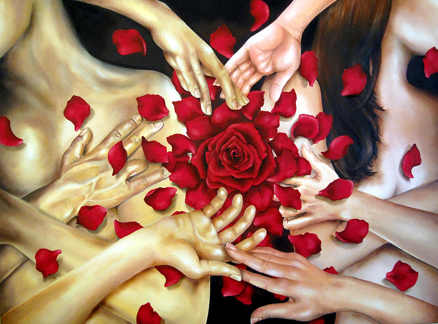 Oil Painting - Touch  by Stephanie LeVasseur