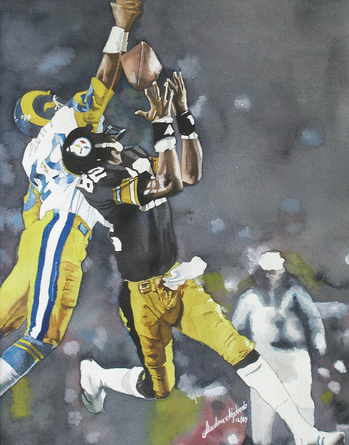 Sports Painting - Touchdown Catch by Andre Ajibade