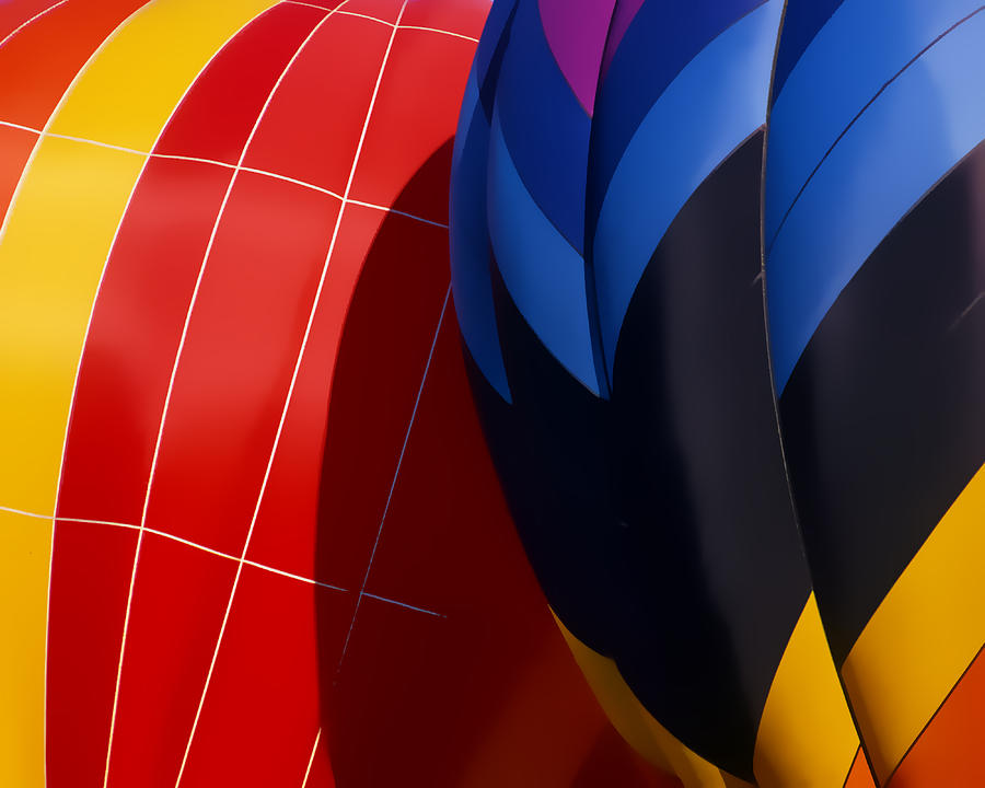 Hot Air Balloons Digital Art - Touching by Ken Evans