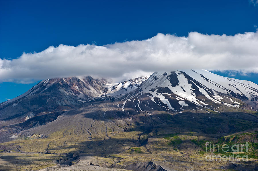 Mt. St. Helens Photograph - Touching Mt. St. Helens by Jackie Follett