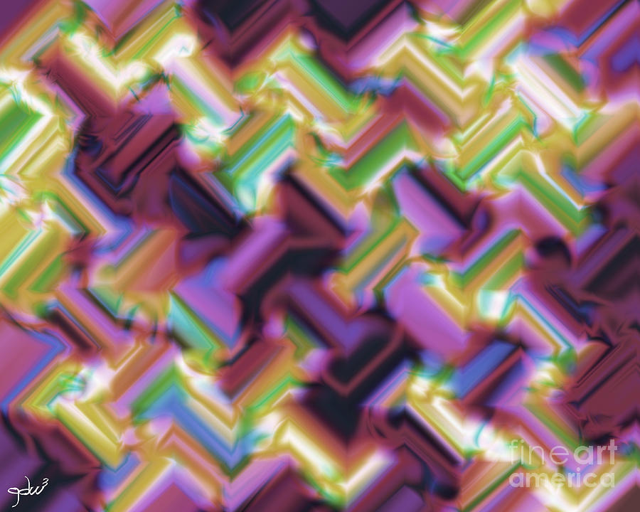 Abstract Digital Art - Tough Day 2012 #1 by Gdw3