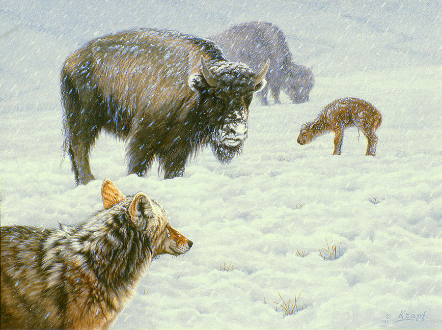 Wildlife Painting - Tough Day In May by Paul Krapf