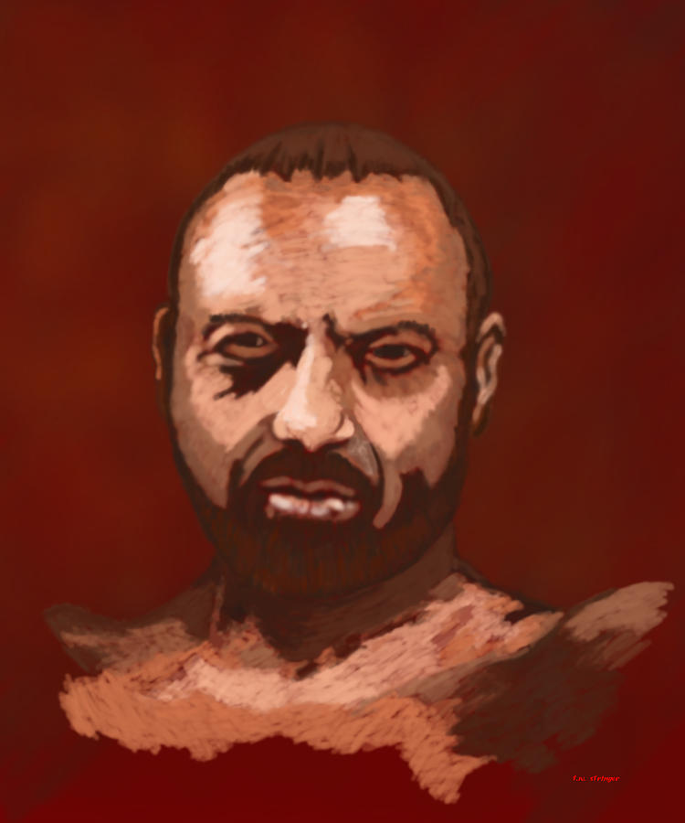 Male Painting - Tough Guy by Tim Stringer