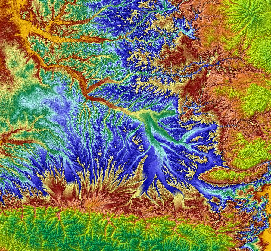 Cartography Digital Art - Toulouse France Map Art by Paul Hein
