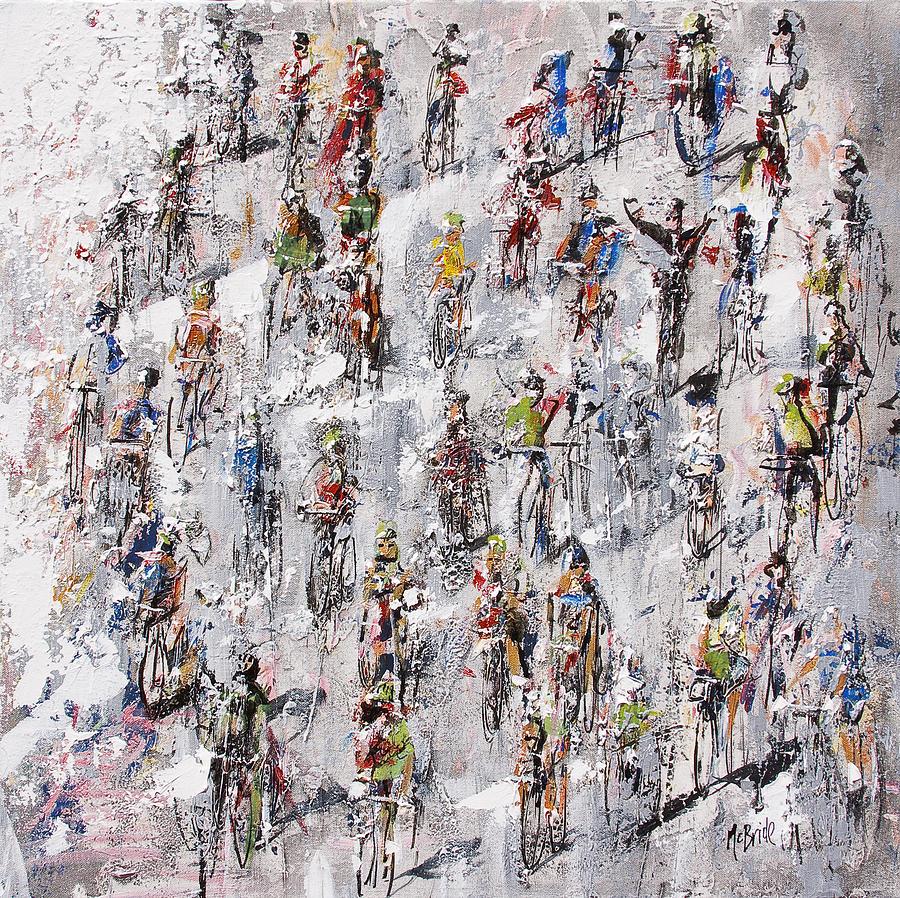 Le Painting - Tour De France Stage 2 by Neil McBride