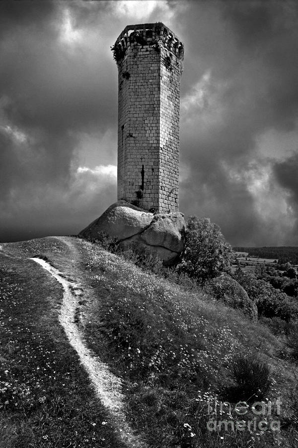 Auvergne Photograph - Tour De La Clauze Tower. Saugues. Haute-loire Department. Auvergne. France by Bernard Jaubert