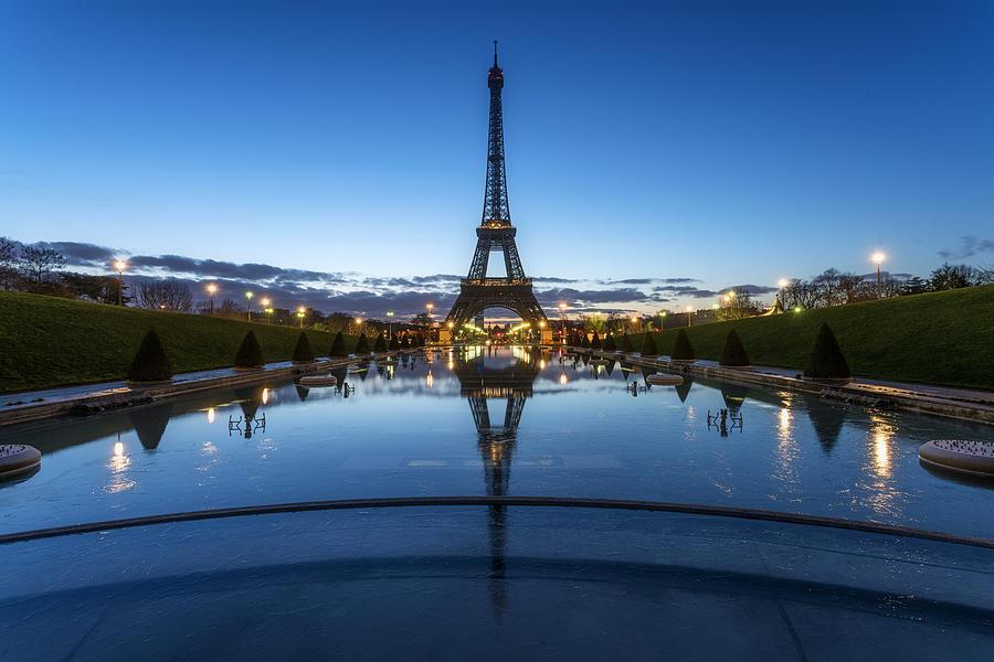 Tour Eiffel during the blue hour Photograph by PEC Photo