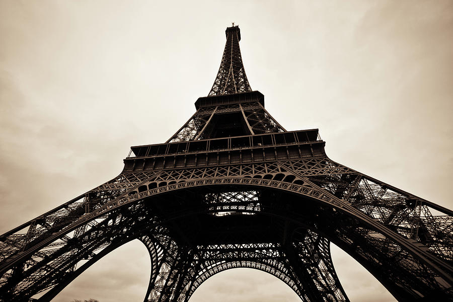 Tour Eiffel Of Paris In Black And White Photograph by Zodebala