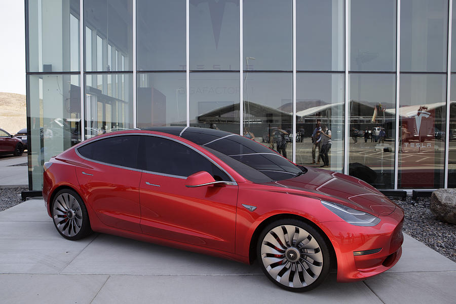 Tour Of Tesla Motors Inc.s Gigafactory With Remarks By Chief Executive Officer Elon Musk And Co-Founder Jeffrey Straubel Photograph by Bloomberg