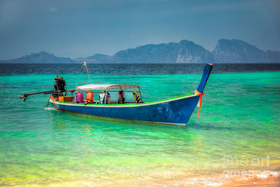 Asia Photograph - Tourist Longboat by Adrian Evans