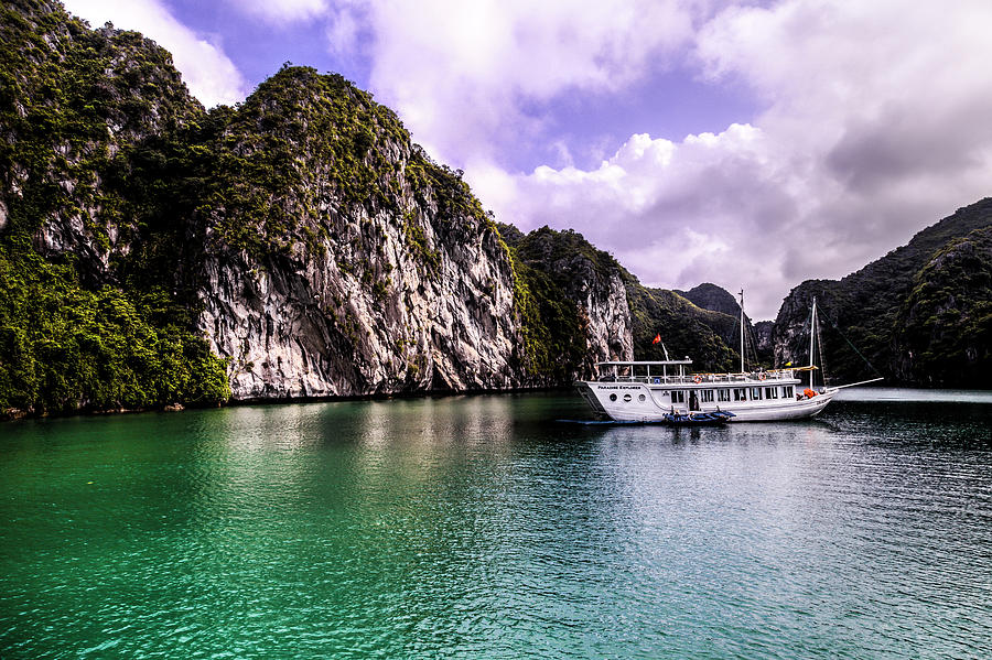 Tourist Scene In Halong Bay, Vietnam Photograph by Oliver Smalley / Ollie Smalley Photography