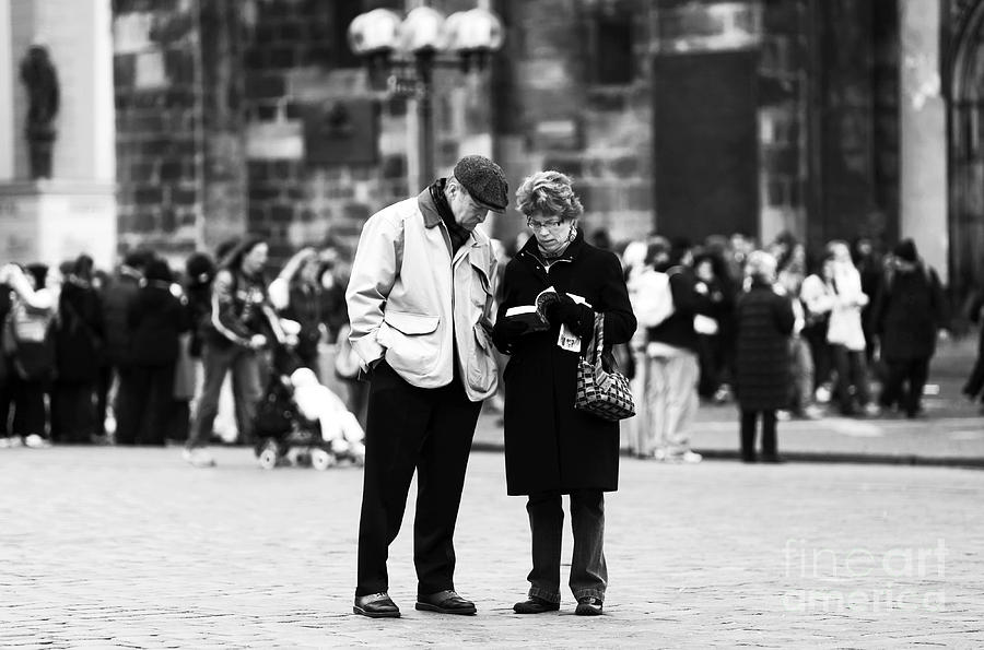 Pictures Photograph - Tourists by John Rizzuto
