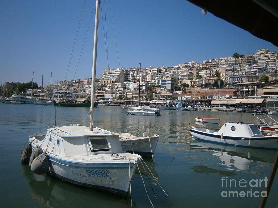 Piraeus Photograph - Tourkolimano-1 by Katerina Kostaki