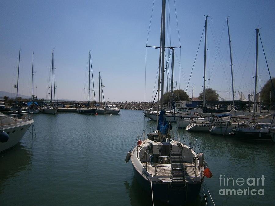 Harbor Photograph - Tourkolimano-2 by Katerina Kostaki